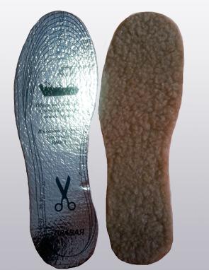 Стельки зимние из верблюжьего меха с подошвой -лавсан