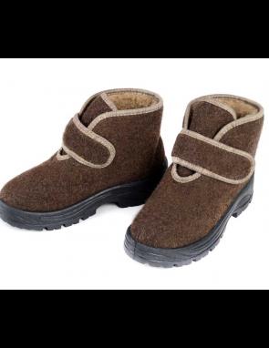 """Ботинки """"Верблюжий Тепло-ХОД"""" ЖЕНСКИЕ низкие из верблюжьего войлока и шерсти"""