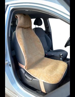 Накидка на сиденье автомобиля из натурального верблюжьего меха ОДНОТОННАЯ