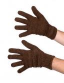 Перчатки однослойные из верблюжьей шерсти