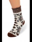 Носки из овечьей шерсти с рисунком