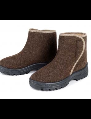 """Ботинки """"Верблюжий Тепло-ХОД"""" МУЖСКИЕ низкие из верблюжьего войлока и шерсти"""