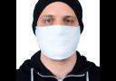 Маска защитная, гигиеническая для лица из МИКРОФИБРЫ, 2-слойная, многоразовая БЕЛАЯ