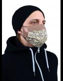 Маска защитная, гигиеническая для лица из ХЛОПКА, 2-слойная, многоразовая (арт. Мз-1-б)