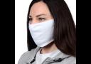 Маска защитная, гигиеническая для лица из МИКРОФИБРЫ с МЕДНОЙ нитью, 2-слойная, многоразовая БЕЛАЯ