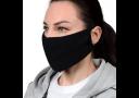 Маска защитная, гигиеническая для лица из МИКРОФИБРЫ, 2-слойная, многоразовая ЧЕРНАЯ