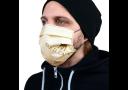 Маска защитная, гигиеническая для лица из ХЛОПКА, 2-слойная, многоразовая (арт. Мз-3-т)