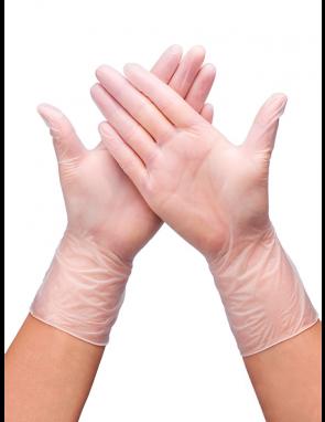 Перчатки одноразовые нестерильные ВИНИЛОВЫЕ, неопудренные (упаковка 50 пар)