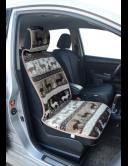 Накидка на сиденье автомобиля из натурального верблюжьего меха, рисунок ОЛЕНИ